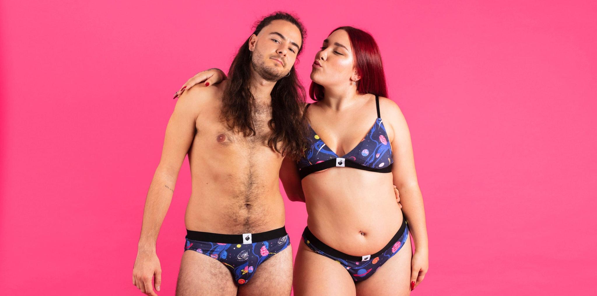 pareja ropa interior conjunto dabooty ecowear unisex